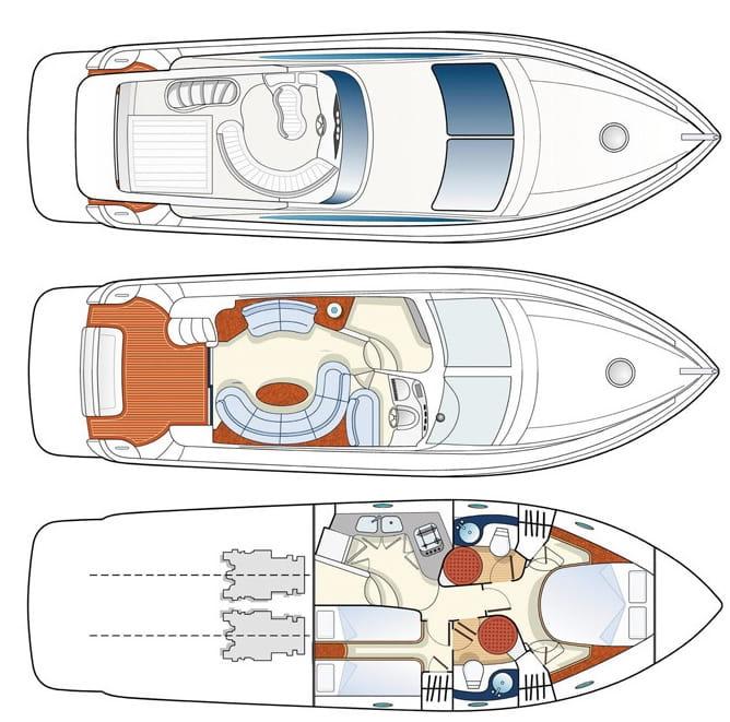 Аренда яхты Азимут 42м